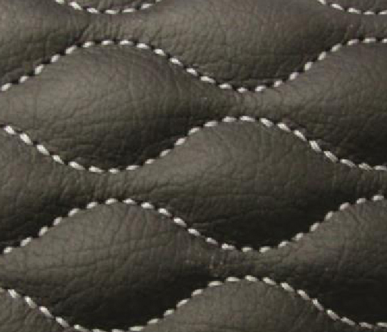 Interlock Wave Leather Upholstery Pattern