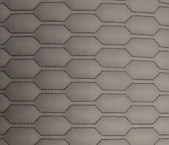 Honey Comb Leather Upholstery Pattern