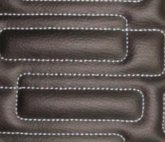 Interlock Rectangle Leather Upholstery Pattern