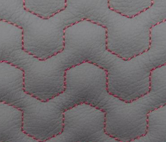 Dynamic Wave Leather Upholstery Pattern