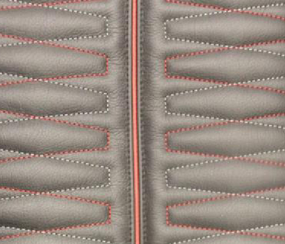 Geo Hex Leather Upholstery Pattern