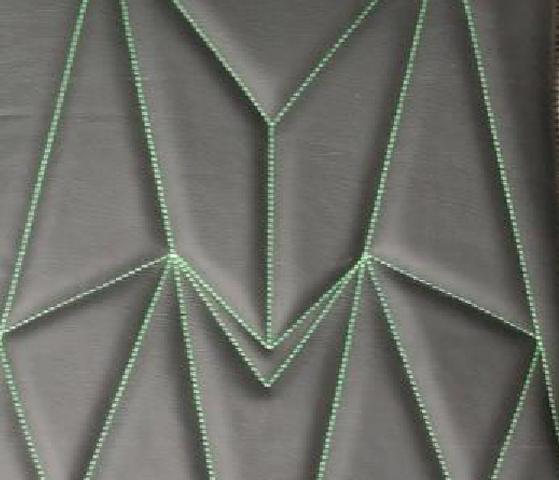 Zig Zag Leather Upholstery Pattern
