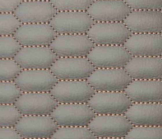 Honeycomb W/O Gap Leather Upholstery Pattern