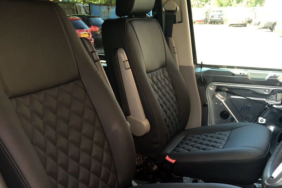 VW T5 Campevan Nappa Leather Bentley Stitching Upholstery